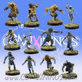 Frogmen - Deep Ones Frogmen Team of 12 Players - SP Miniaturas
