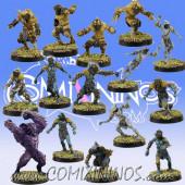 Frogmen - Deep Ones Frogmen Team of 15 Players with Big Guy - SP Miniaturas