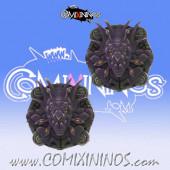 Set of 2 Frogmen Reroll and Turn Counters - SP Miniaturas