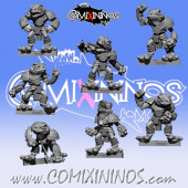 Frogmen - Set of 7 Frogmen Linemen - Fanath Art