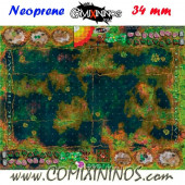 Frogmen Swamp Neoprene Mousepad Pitch of 34 mm Squares WITH Dugouts - Comixininos