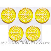 Overwatch Tokens (Set of 5) - Translucent Yellow