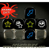 Set of 3 Funny Block Dice Mod15 Black - Akaro