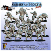 Norses - Resin Games of North Living Team of 16 Players with Big Guy - Fanath Art