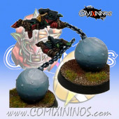 Goblins - Fan Attack Ball and Chain Goblin - SP Miniaturas