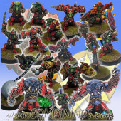 Goblins - Complete Goblin Team of 16 Players with 2 Trolls - SP Miniaturas