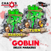 Set of 2 Delux Goblin Reroll and Turn Counters - Chaos Factory