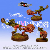 Goblins / Orcs - Goblin with Squig Boby - Fanath Art