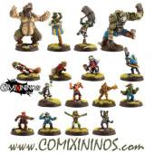 Goblins - Gobham Asylum Goblin Team of 16 Players with 2 Trolls - Labmasu