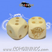 Set of 2d6 Goblin Dots Dice - Wooden