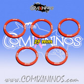 Set of 5 Grab Skill Rings for 25 mm Bases - Comixininos