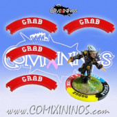 Set of 4 Red Grab Puzzle Skills for 32 mm Bases - Comixininos