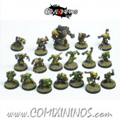 Underworld - Complete Green Ratz Team of 18 Players with Rat Troll - Goblin Guild