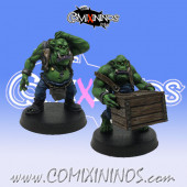 Orcs / Black Orcs - Set of 2 Orc Green Workers - Mystery Studio