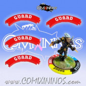 Set of 4 Red Guard Puzzle Skills for 32 mm GW Bases - Comixininos