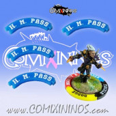 Set of 4 Blue Hail Mary Pass Puzzle Skills for 32 mm Bases - Comixininos