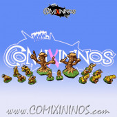 Magnetic Halfling Team for Mini-BB of 16 Players with 2 Treemen