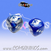 Set of Blue 2d6 Dice Kislev Circus Bear - Hexy Store