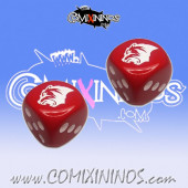 Set of Red 2d6 Dice Kislev Circus Bear - Hexy Store