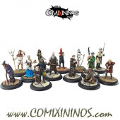 Set of 13 Resinburg Citizens Medieval Townsfolk - Hexy Store