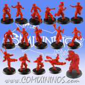 Kislev Circus - Complete Slavic Team A of 16 Players with Bear - Hexy Store