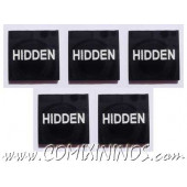 Hidden Tokens (Set of 5) - English