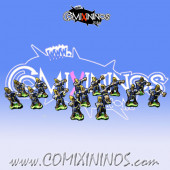 Magnetic High Elf Team of 16 Players for Mini-BB