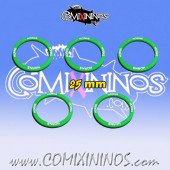 Set of 5 Horns Skill Rings for 25 mm Bases - Comixininos