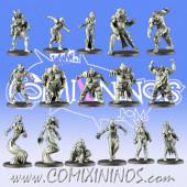 Necromantic - Underground Horrors Base Team of 16 Players - Games Miniatures