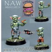 Goblins / Orcs - Franz Hot Dog Goblin - NAW Miniatures