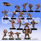 Humans - 3D Printed Complete Team of 16 Players with Ogre - RN Estudio