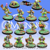 Halflings - Imperial Team of 14 Players - Willy Miniatures