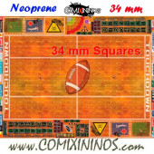 Indoor Neoprene Mousepad Pitch of 34 mm Squares WITH Dugouts - Comixininos