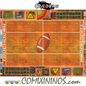 29 mm Indoor Plastic Gaming Mat with Crossed Dugouts - Comixininos