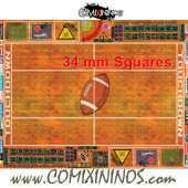 34 mm Indoor Plastic Gaming Mat with Crossed Dugouts - Comixininos