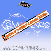 34 mm Range Ruler 1 mm Thick - Orange and Black - English