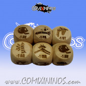 2020 Ed. Rules Injury Dice 1d6 Size 16 mm - Wooden
