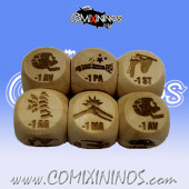 2020 Ed. Rules Injury Dice 1d6 Size 20 mm - Wooden