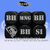 1d6 Meiko Injury Dice - Black