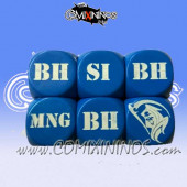 1d6 Meiko Injury Dice - Blue