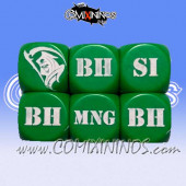 1d6 Meiko Injury Dice - Green