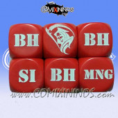 1d6 Meiko Injury Dice - Red