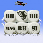1d6 Meiko Injury Dice - White