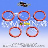 Set of 5 Juggernaut Skill Rings for 25 mm Bases - Comixininos