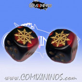Set of 2d6 Evil Dice - Meiko