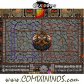 29 mm Evil Dwarf Plastic Gaming Mat with BB7 and Parallel Dugouts - Comixininos