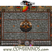 29 mm Evil Dwarf Plastic Gaming Mat with Parallel Dugouts - Comixininos