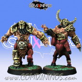 Evil Dwarves - Set of 2 Bull Centaur Evil Dwarves - Willy Miniatures