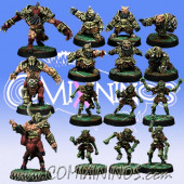 Evil Dwarves - Team of 15 Players with Minotaur - Willy Miniatures