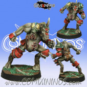 Evil - Mutated Beastman with Two Heads - Meiko Miniatures